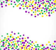 Bright abstract dot mardi gras pattern Stock Photos