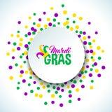 Bright abstract dot mardi gras pattern Stock Photo