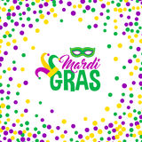 Bright abstract dot mardi gras pattern Stock Photography
