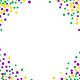 Bright abstract dot mardi gras pattern Royalty Free Stock Photo