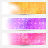 Bright abstract dotted cards collection Royalty Free Stock Photos