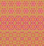 Bright abstract endless vector background. Print for fabric. Moroccan motives Royalty Free Stock Images