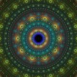 Fractal sun fantasy. Bright abstract fractal sun, Fractal mandala fantasy stock illustration