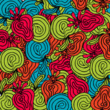 Bright abstract fruits pattern Royalty Free Stock Image
