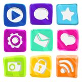 Bright, abstract, fun icon set Royalty Free Stock Image