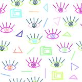 Bright abstract geometric art pattern. Ethnic hipster background royalty free illustration