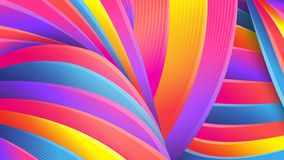 Bright abstract geometric background. Vector. Colorful colors of the rainbow. Distorted intersecting wavy lines. stock illustration