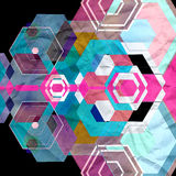 Bright abstract geometric background Royalty Free Stock Photo