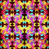 Bright abstract geometric seamless pattern in graffiti style. Quality vector illustration for your design Stock Photography