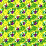 Bright abstract geometric seamless pattern in graffiti style. Quality vector illustration for your design royalty free illustration