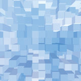 Bright Abstract Geometric Square 3D Diagram Bar Bricks Pattern. Vertical Perspective Wallpaper Background, Sky Blue Key, Large Detailed Bars Texture Macro Stock Image
