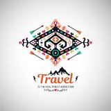 Fancy abstract geometric vector simbol in tribal style Stock Photos