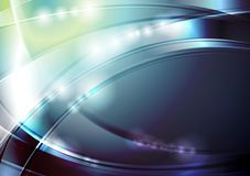 Bright abstract glowing waves design Royalty Free Stock Images