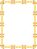 Gold frame. Bright abstract gold vintage frame Stock Photo