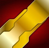 Bright abstract golden design Royalty Free Stock Photography