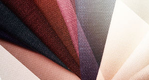 Bright abstract graphic background with gunny textile samples. Good for advertising backdrop. Royalty Free Stock Images