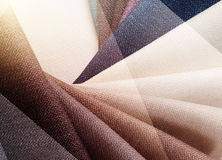 Bright abstract graphic background with gunny textile samples. Good for advertising backdrop. Stock Photo