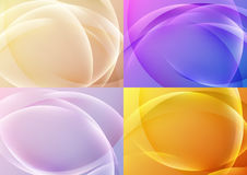 Bright abstract halftone backgrounds collection vector illustration