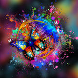 Bright abstract illustration Royalty Free Stock Photography