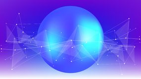 Bright abstract illustration of a digital world stock images