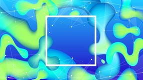Bright abstract illustration of a digital world stock image
