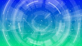 Bright abstract illustration of a digital world stock illustration
