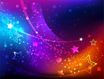 Bright abstract background with stars Stock Image