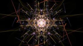 Bright abstract lighting mandala. Silk symmetry series royalty free illustration
