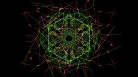Bright abstract lighting mandala. Silk symmetry series vector illustration