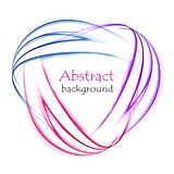 Bright abstract logo of multicolored waves on white background. Bright abstract logo of pink, blue and purple waves on white background Stock Illustration