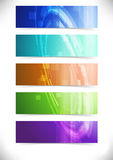 Bright abstract mechanical tech cards collection Stock Image