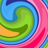 Bright abstract modern background A pattern of colorful lines twirled into a spiral Creative youth conceptual background stock illustration