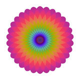 Bright abstract mosaic circle. Logo rainbow mandala. Stock Photography