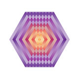 Bright abstract mosaic hexagon. Logo rainbow mandala. Stock Photos