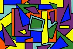 Bright abstract mosaic seamless pattern. stock photo