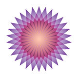 Bright abstract mosaic star. Logo rainbow mandala. Stock Photos