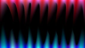 Bright, abstract, multicolored, blue, red and pink magical rays of light like fire, sharp fangs, stalactites on a black background. And copy space. Vector Royalty Free Stock Images
