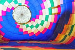 Bright abstract multicolored hot air balloon background Royalty Free Stock Image