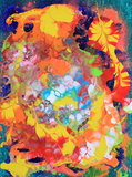 Bright abstract painting. Beautiful abstract painting with bright and pastel colors Royalty Free Stock Photo