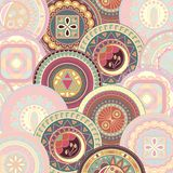 Bright abstract pattern with circles. Original design stock illustration