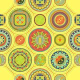 Bright abstract pattern with circles. Seamless design royalty free illustration