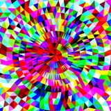 Bright Abstract polygonal background with concentric circles of triangles. Vector illustration Stock Image