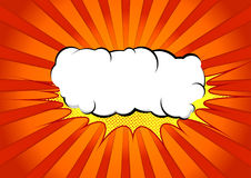 Bright abstract pop art comic book splash cloud. White graphic e Royalty Free Stock Image