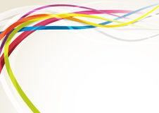 Bright abstract rainbow swoosh lines background. Vector illustration Stock Photos