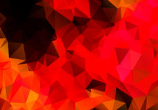 Bright abstract red background polygon Royalty Free Stock Photos