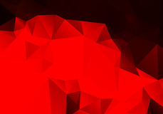 Bright abstract red background polygon Royalty Free Stock Image