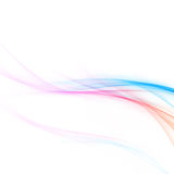 Bright abstract red and blue stylish wave layout Stock Photography