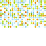 Bright abstract retro circles design. Vector background Royalty Free Stock Photo