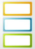 Bright abstract retro light banners Stock Images