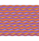 Bright abstract seamless horizontal wave pattern Royalty Free Stock Photography
